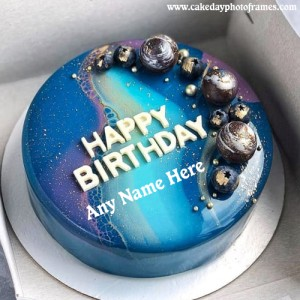 Beautiful Happy Birthday Cake with Name editor