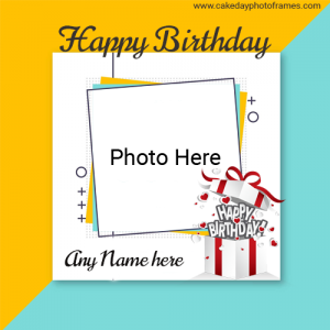 Happy Birthday Card with Name and Pic online