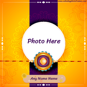 happy raksha bandhan wishes card with name and photo