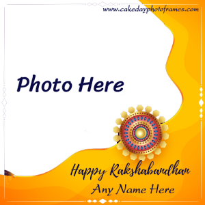Happy Rakshabandhan 2020 card Name and Photo