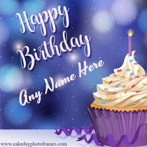 amazing happy birthday card with name editor online