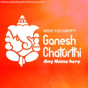 Create Happy Ganesh Chaturthi Card with Greeting message