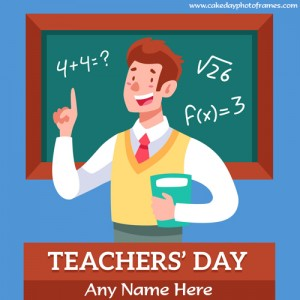 Happy Teachers Day 2020 Wish Card with Name pic