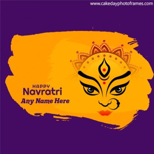 Happy Navratri greeting Cake with Name editor image