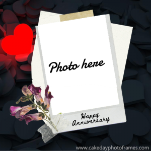 wedding anniversary photo frame editor online
