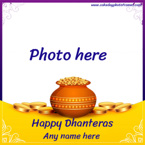 Dhanteras 2020 card with name and photo download