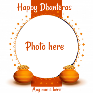 happy dhanteras photo frame with name edit