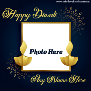 happy diwali 2020 card with name and photo