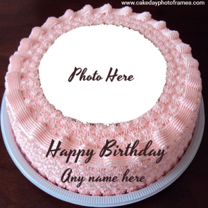 Online Birthday Wish Cake with Name & Photo