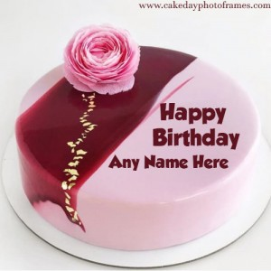 Make Unique Birthday cake image with Name