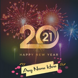Happy New Year 2021 Card with Name editor