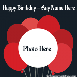 Write a name on happy birthday card with photo edit