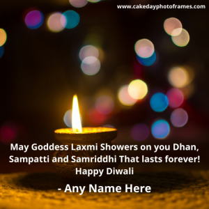 happy diwali quotes 2020 card with name