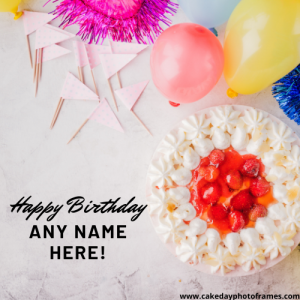 happy birthday greeting card with name edit