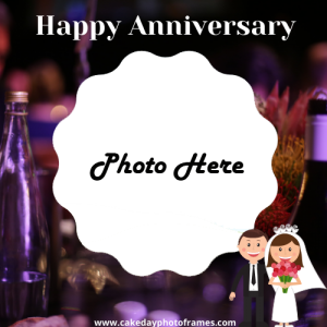 happy marriage anniversary photo frame download