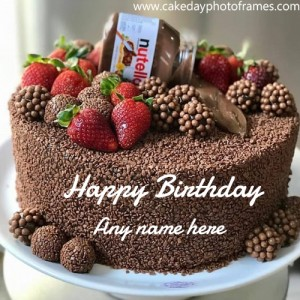 Nutella chocolate birthday cake with name edit