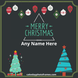 write name on merry christmas and happy new year pic