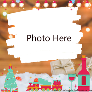Merry christmas 2020 wishes photo frame download