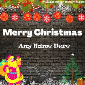 Special Merry Christmas Card with Name free edit