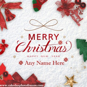 Merry Christmas happy New Year 2021 greeting card