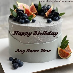 Blueberry Birthday Chocolate Cake with Name edit