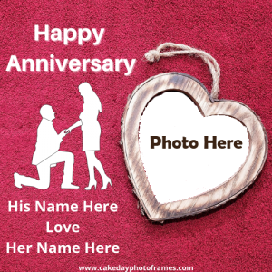 Happy Anniversary Photoframe with Couple Name