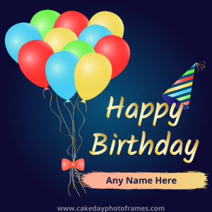 Create Best Happy Birthday Card with Name
