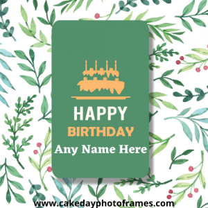 Special Happy Birthday Card with Name Image