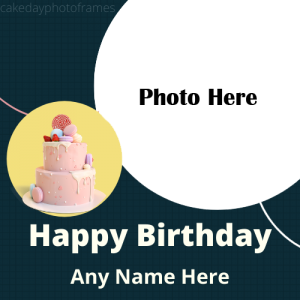 Happy Birthday Wishes Card Photo Frame With Name