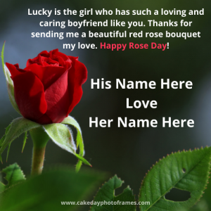 happy rose day greeting card with name edit