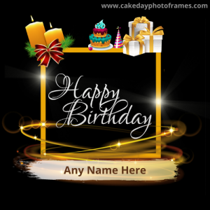 Amazing birthday wishing card with name
