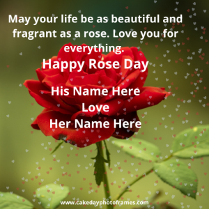 Lovely Happy Rose day with Couple Name Editor