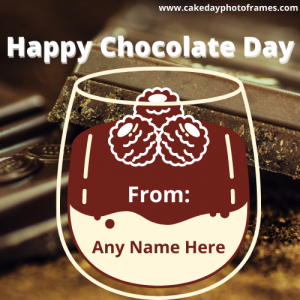 Free Happy Chocolate Day Card With Your Name
