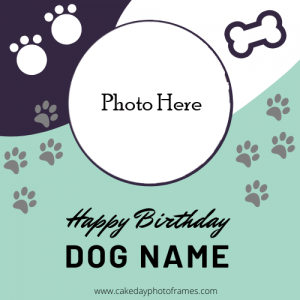 Dog Birthday Card Images With Name and photo