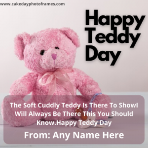 Happy Teddy Day 2021 Wishes with Name Edit