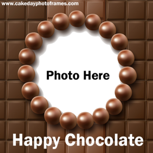 Happy chocolate day with lovely Photo Online Edit