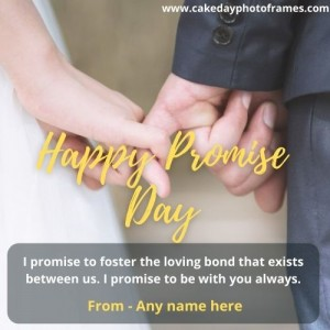 Make Happy Promise Day Greeting Card With Name
