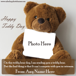 Happy Teddy Day 2021 Card with Name and Photo