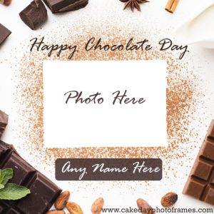 Happy Chocolate Card With Name and Photo Edit