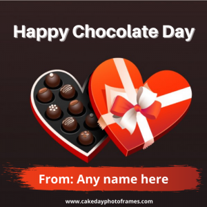Celebrate with Happy Chocolate Day with Name Edit