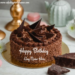 Customized Happy Birthday Cake with Name Image