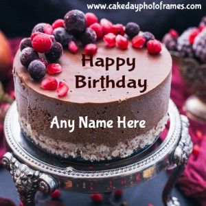 Special Happy Birthday Cake with Name for free