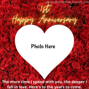 Special Happy Anniversary Card with Couple Photo