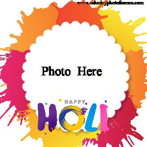 Happy Holi Card with Photo Editor