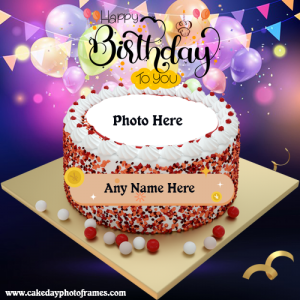 Free Happy Birthday Cake with name and Photo editor