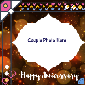 Happy Anniversary Card with Photo of Couple