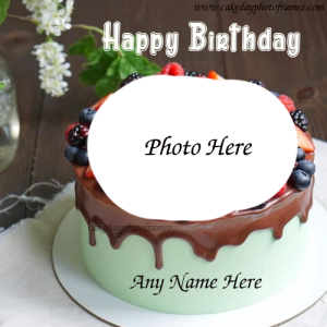 Best Birthday wishes with their name and Photo on cake