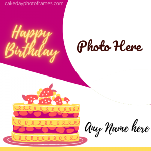 Birthday Greetings With Name and Photo Editor Online