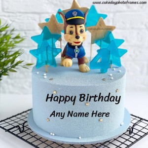 Happy Birthday wishes to little champs with their name on cake