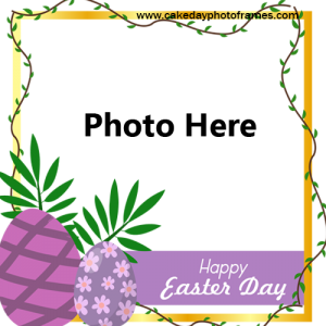 Happy Easter day wish with photo editor